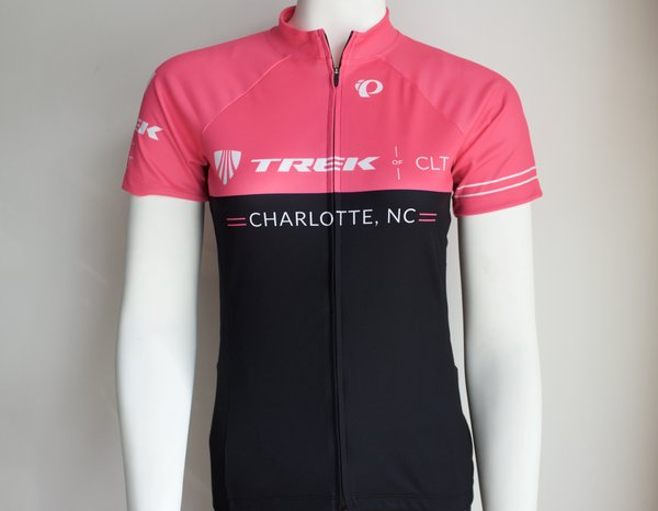 Trek of CLT Womens Custom Select Jersey Pink Viz and Black