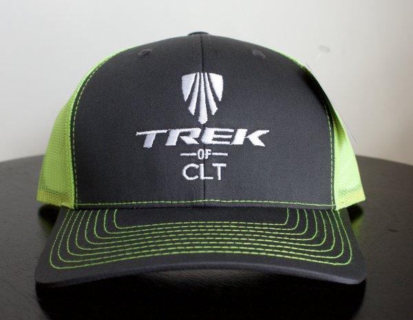 Trek of CLT Custom Hat Charcoal / Neon Yellow
