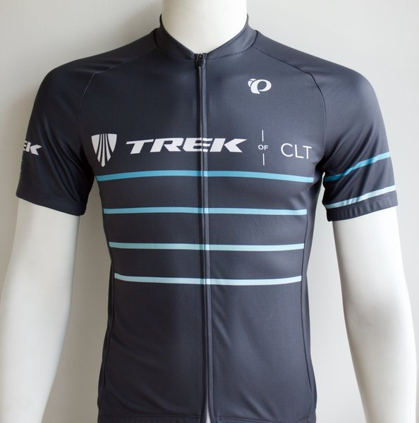Trek of CLT Custom Select Jersey Grey with Blue Stripe