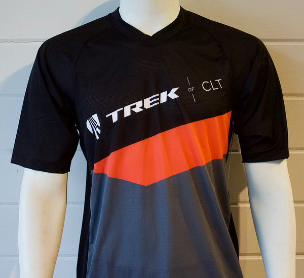 Trek of CLT Men's Custom Bontrager Tech Tee - Black/Orange