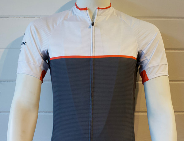 Trek of CLT Men's Custom Bontrager Jersey - White/Grey