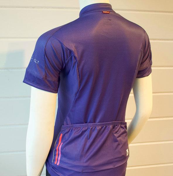 Trek of CLT Women's Custom Bontrager Jersey - Purple/Coral