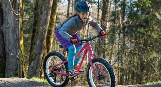 Girl riding mountain bike