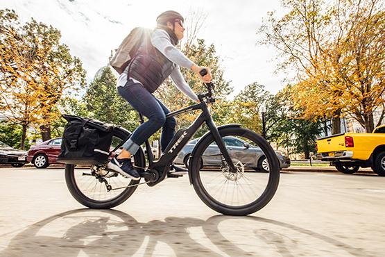 Commute quicker on an electric bike