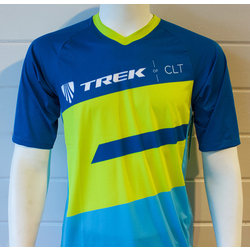 Trek of CLT Men's Custom Bontrager Tech Tee - Blue/Green