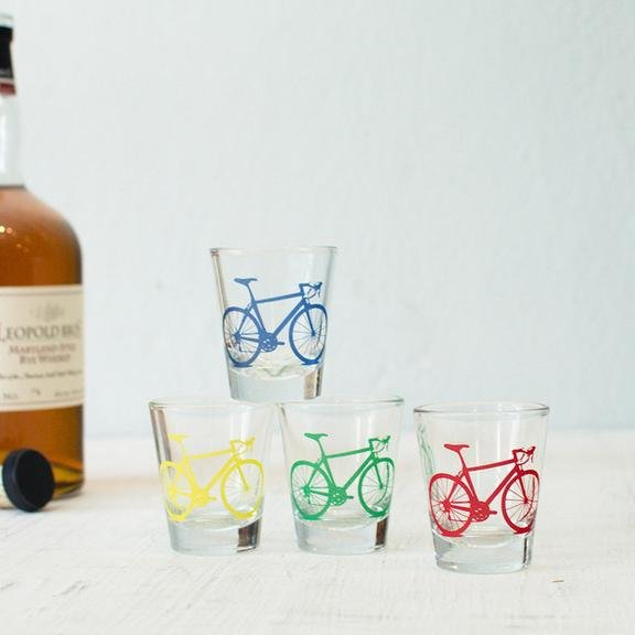 Vital Industries Bicycle Shot Glass