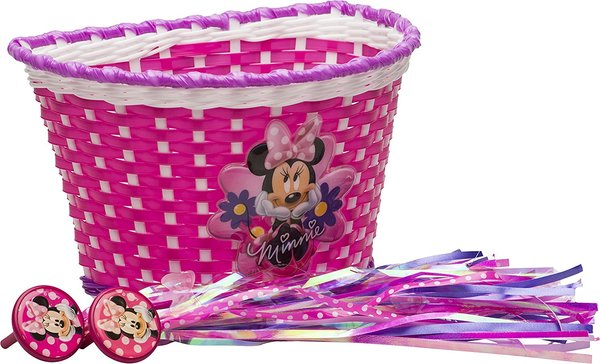 Bell Disney's Bike Basket & Streamers (Minnie Mouse or Frozen)
