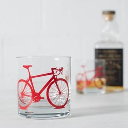Vital Industries Bicycle Rocks Glass