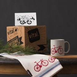 Vital Industries Road Bike Tea Towel