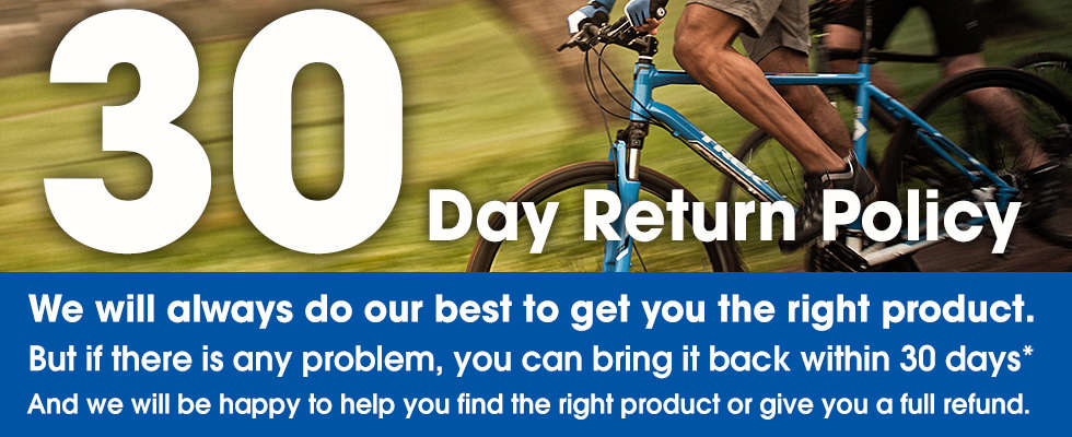 Trek Bicycle Store 30 Day Return Policy