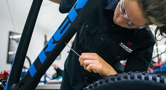 Bike repair at Trek Bicycle Stores Florida