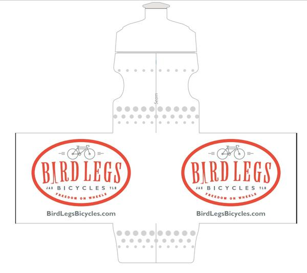 20oz Bird Legs Bicycles Water Bottle