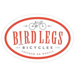 Bird Legs Bicycles Bumper Sticker