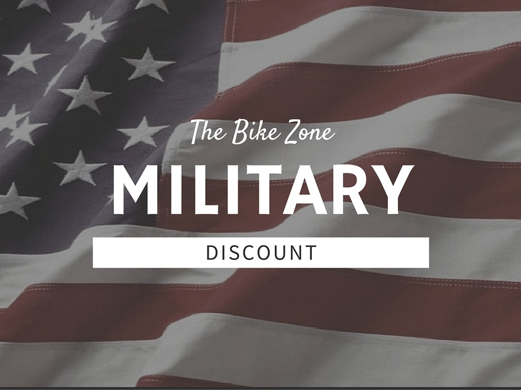 The Bike Zone Military Discount - American Flag Image