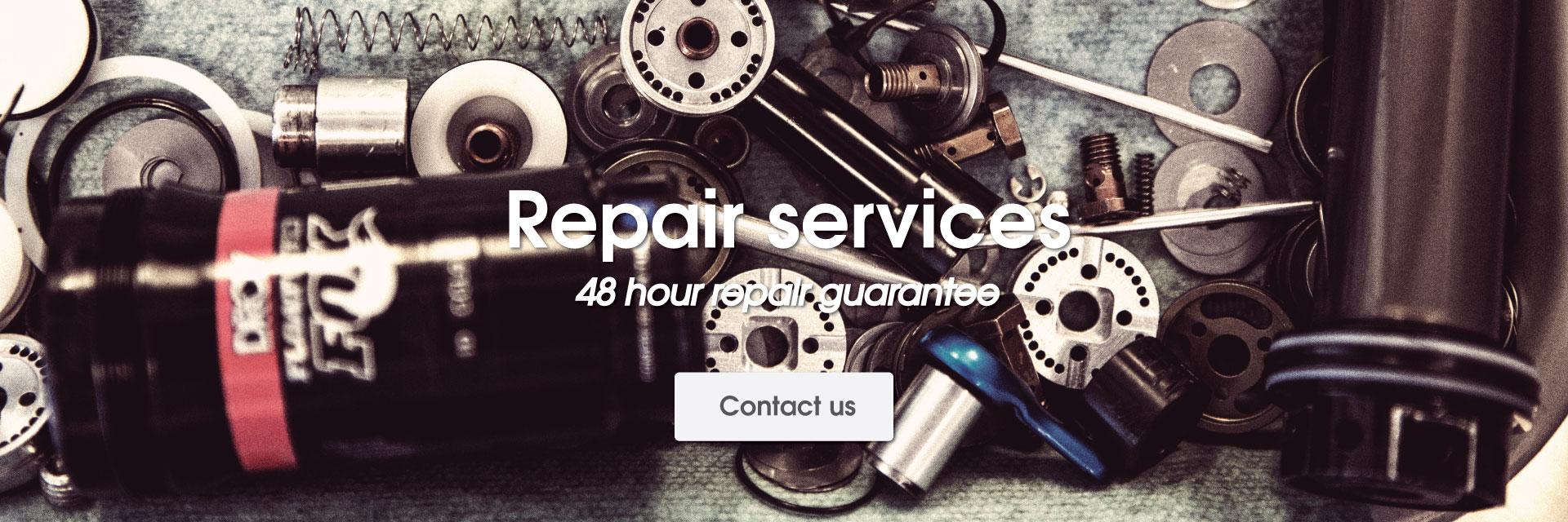 Bike repair at Atlanta Cycling's Bike Repair Shop - Bike Maintenance