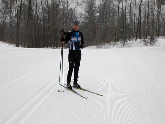 Tim Swift on the Birkie Trail, Christmas Day 2010