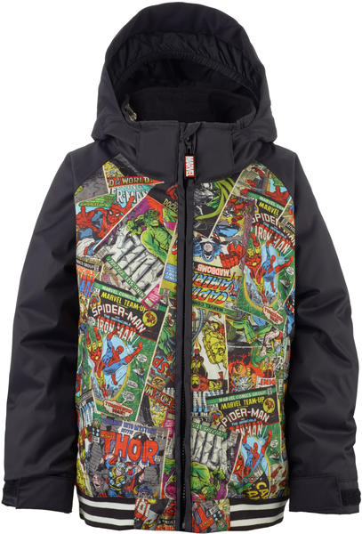 Burton Minishred Game Day Jacket Color: Marvel/True Black