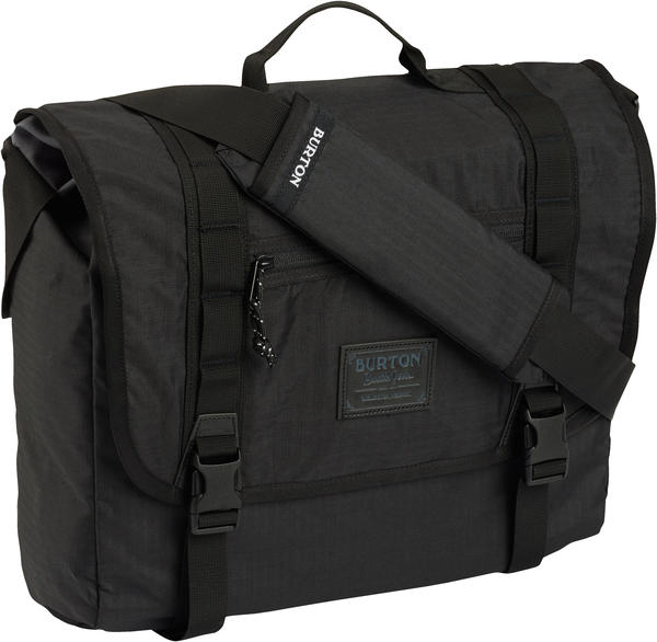 Burton Flint Messenger Bag Color: True Black Triple Ripstop