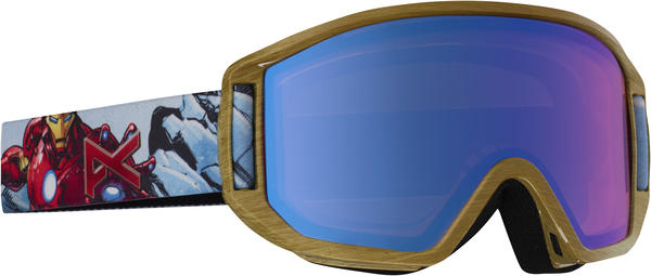 Anon Relapse Jr MFI Goggles Color: Ironman w/ Blue Amber lens