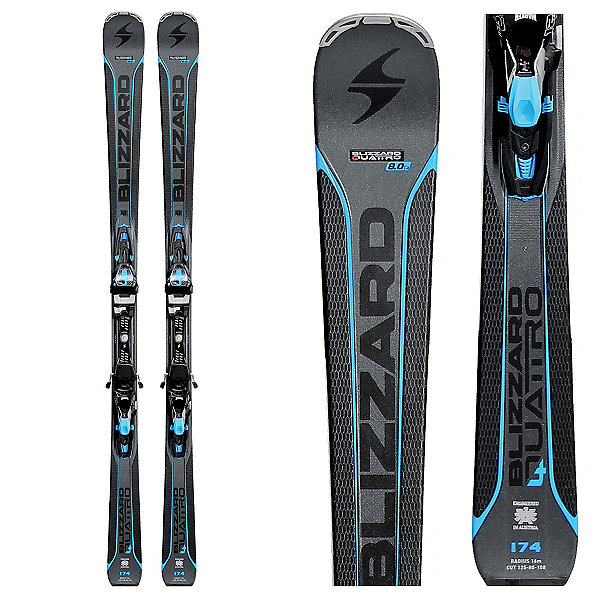 Blizzard Quattro 8.0 Alpine Skis w/ TCX 12 Bindings