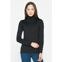 Icebreaker Tech Long Sleeve Turtleneck (Black)
