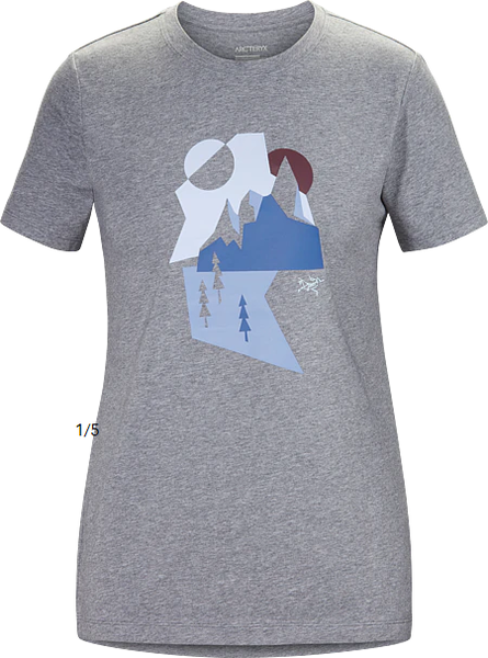 Arcteryx PAPER PEAKS T-SHIRT WOMEN'S : MASSET HEATHER