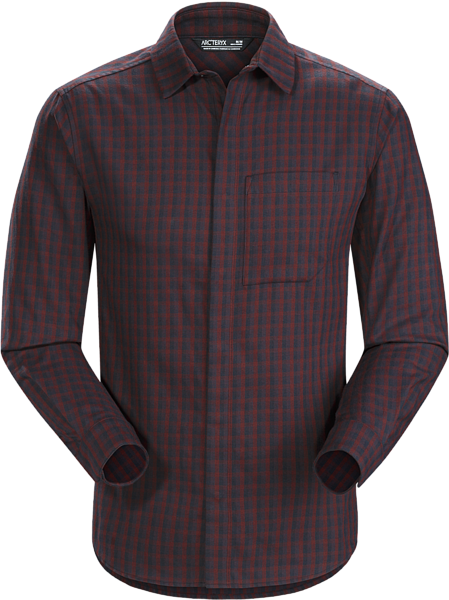 Arcteryx BERNAL SHIRT LS Color: BLACK BACCARA