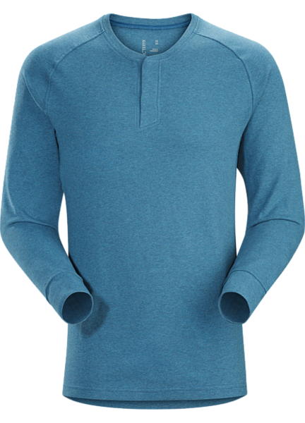 Arcteryx SIRRUS LS HENLEY Color: LIGHT HECATE HEATHER