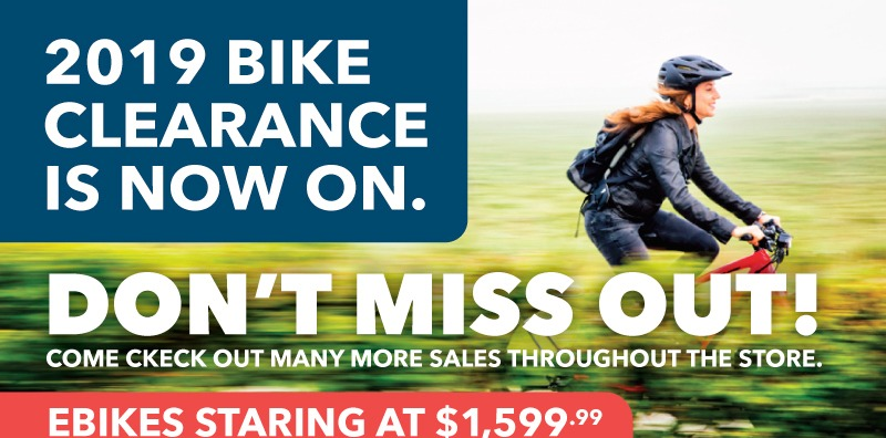 2019 Bike Clearance Sale On Now