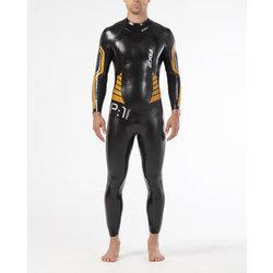 2XU P:1 Propel Wetsuit : Black/Flame Orange