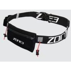 ZONE 3 Endurance Number Belt with Neoprene Fuel Pouch and Energy Gel Storage - BLACK - OS