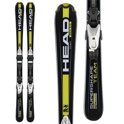 Head Supershape Team : Jr ski : Blk/Yel : w/ SX 4.5 AC Binding