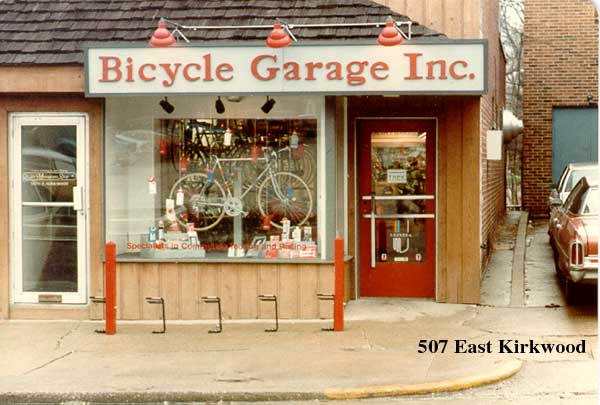 Bicycle Garage Inc | 507 East Kirkwood storefront