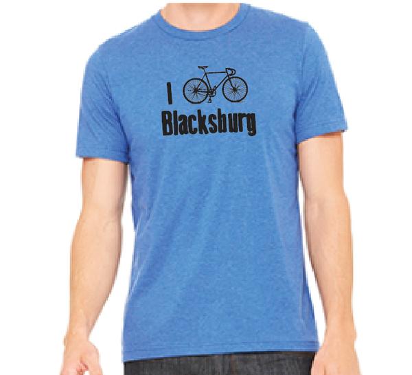 """East Coasters """"I Bike Blacksburg"""" t shirt: Road Bike"""