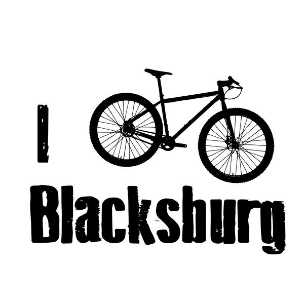 "East Coasters ""I Bike Blacksburg"" t shirt: MTB"