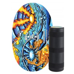 Indo Board Original Yin/Yang Fish with Roller