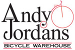 Andy Jordan's Bicycle Warehouse Logo