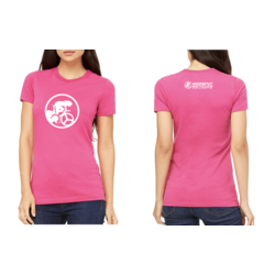 Moment Cycle Sport Triathlon Silhouette T-Shirt - Pink