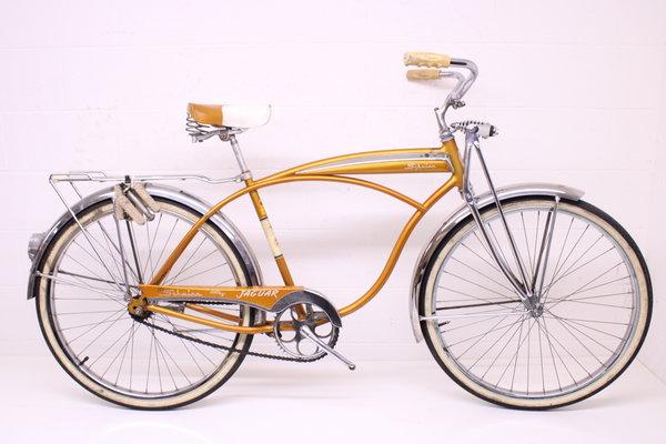 Schwinn Vintage 1964 Schwinn Jaguar Mark V 5 Coppertone Bullet Rack Springer Bicycle