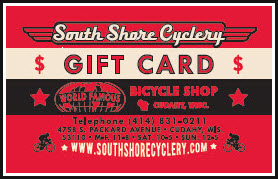 South Shore Cyclery Gift Card