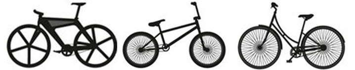 Images of various bicycles