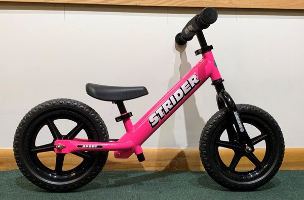 Used Strider 12 Sport Balance Bike Pink