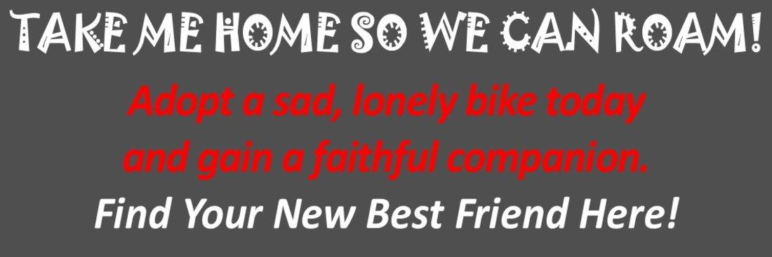 Adopt a bike today!