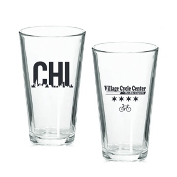 Village Cycle Center Chicago Pint Glass