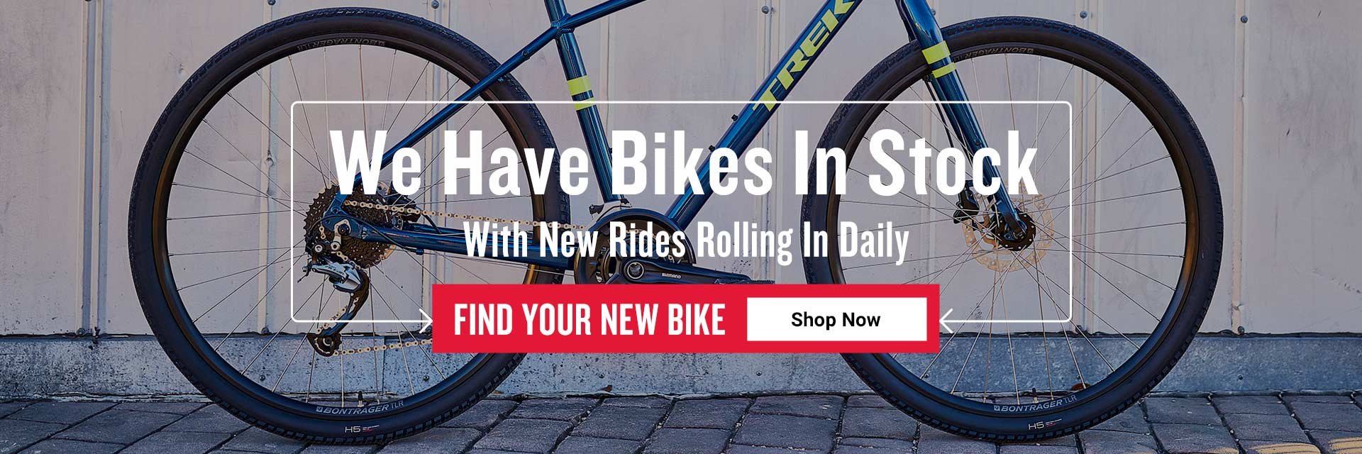 We have bikes in stock with new rides rolling in daily. Find your new bike. Shop now.