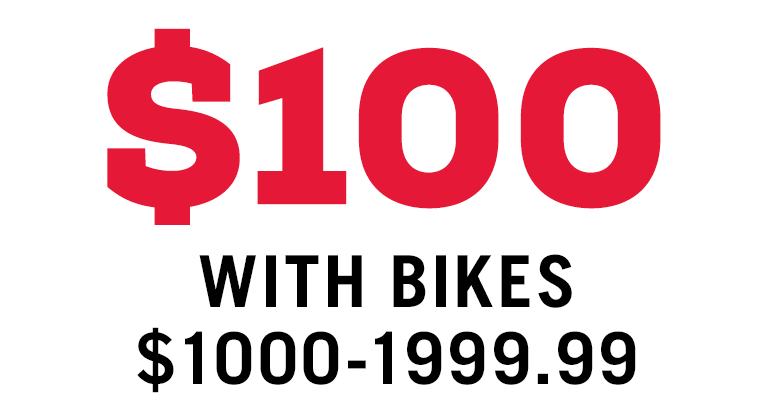 $100 FREE ACCESSORIES