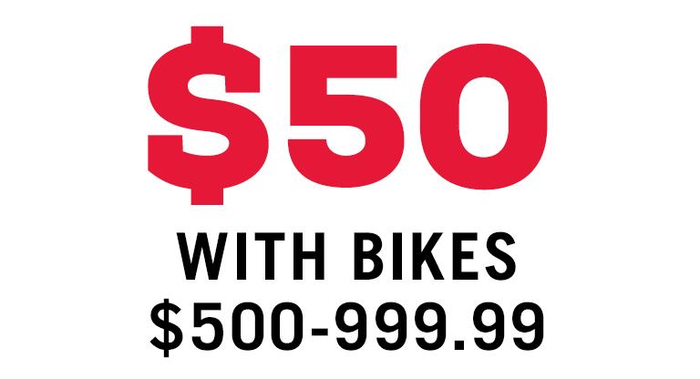 $50 FREE ACCESSORIES