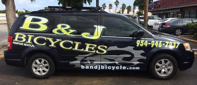B & J Bicycle Shop Van!