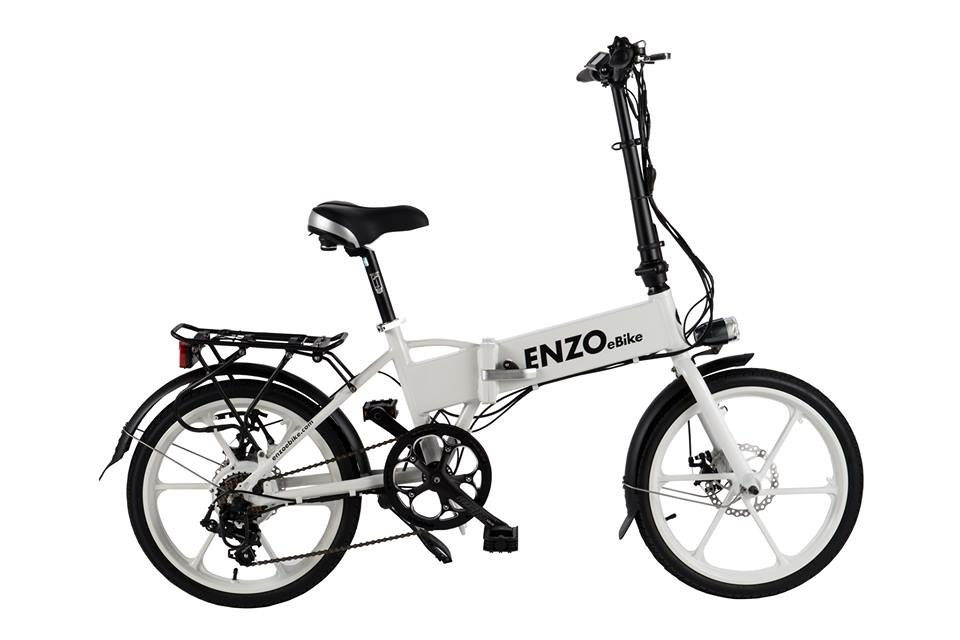 Folding Enzo E-bikes at B&J Bicycles Florida