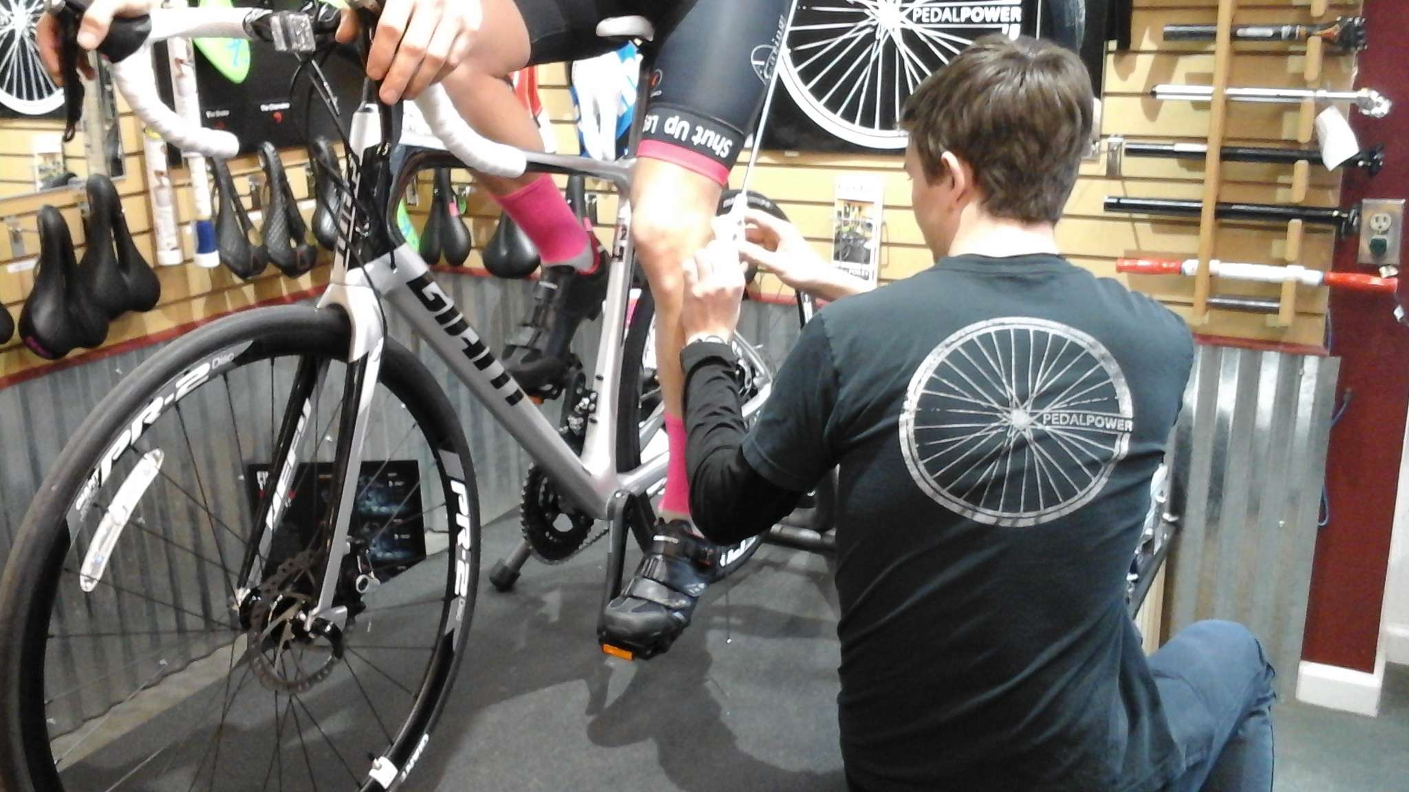 Bike fit in progress
